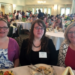 (from the left) Sophie Brookover, Rebekkah Smith Aldrich and Kathy Schalk-Greene
