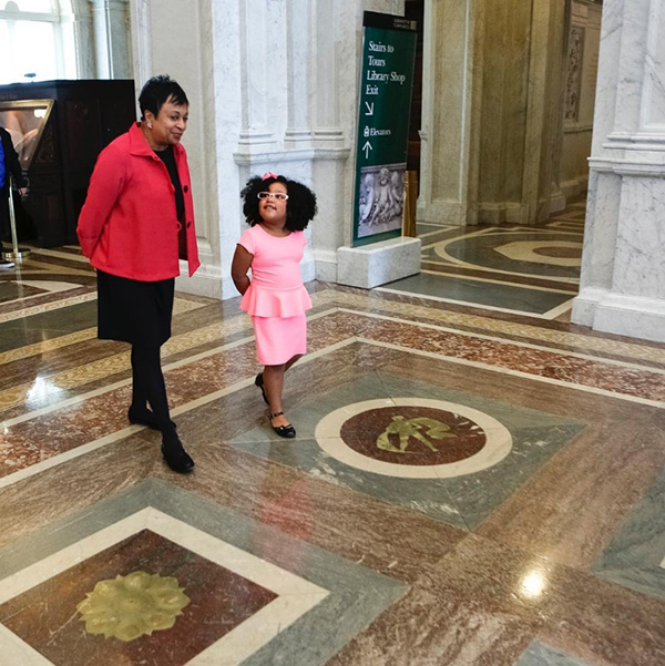 Librarian of Congress Carla Hayden and her youngest colleague