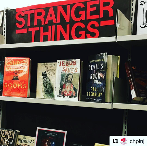 Zeitgeisty @strangerthingstv book display at CHPLNJ