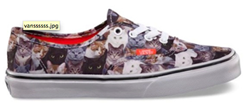 Shoes featuring cats