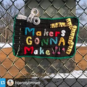 NJ crocheter @hijennybrown's yarn-bomb