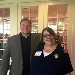 Robert Lackie (Professor Librarian, Rider Univ.) & Joanne Roukens (Assistant Director, LibraryLinkNJ)