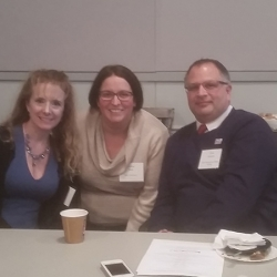 <i>(From the left)</i> Lorie Harding (The Lawrenceville School), Heather Dalal (Rider University) and Chris Carbone (South Brunswick Public Library)