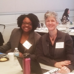 Tiffany McClary (State Library) and Selwa Shamy (Somerset County Library System)