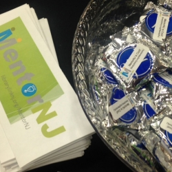 MentorNJ at Rutgers SC&I Career EXPO - Brochure & Peppermint patties