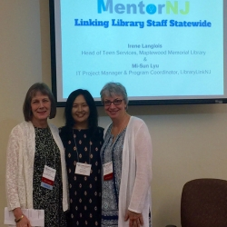Mary Chute (State Librarian), Mi-Sun Lyu (LibraryLinkNJ) & Irene Langlois (Maplewood PL)