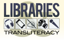 Libraries and Transliteracy proposed logo by John LeMasney via lemasney.com